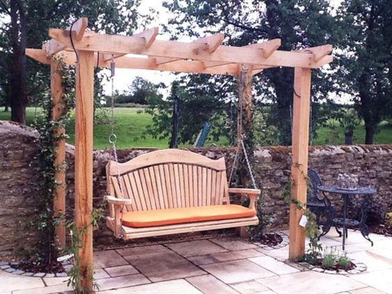 carpentry garden swing